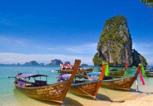 Plage de Krabi en Thaïlande